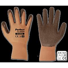 Перчатки защитные PERFECT GRIP BROWN латекс, Bradas