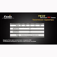 Фонарь Fenix TK22 Cree XM-L2 (U2), Черный
