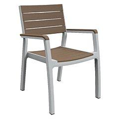 Стул Harmony armchair белый с бежевым, Keter