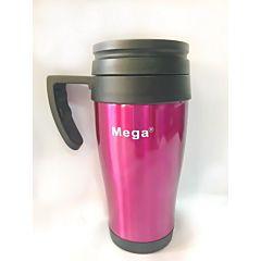 Термочашка PR040 0,4 л, бордовая, Mega