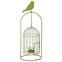 Изделие декоративное в виде клетки для птиц, комплект из 4-х шт зеленый, Greenware