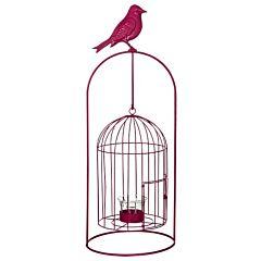 Изделие декоративное в виде клетки для птиц, комплект из 4-х шт розовый, Greenware