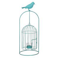 Изделие декоративное в виде клетки для птиц, комплект из 4-х шт синий, Greenware