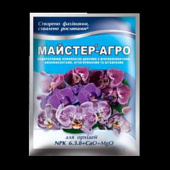 Для орхидей NPK 6.3.8+CaO+MgO — удобрение, Мастер Агро