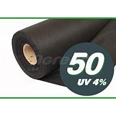 Агроволокно мульчирующее, без перфорации, 50 г/м2, черное, Agreen