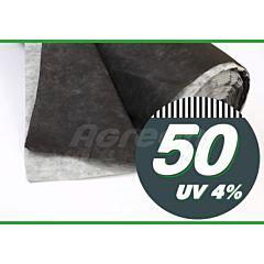 Агроволокно мульчирующее, без перфорации, 50 г/м2, черно-белое, Agreen