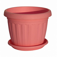 "Вазон с подставкой ""Терра"", розовый, Алеана"