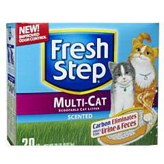 Глиняный наполнитель для кошек Multi-Cat, Fresh Step