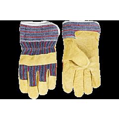 Перчатки рабочие из желтого спилока, TOPEX