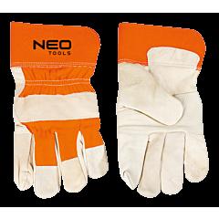 Перчатки рабочие кожанные, NEO Tools