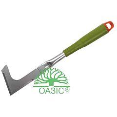 Садовый нож для удаления травы, металлический, с пластмассовой рукояткой 3312O, Оазис