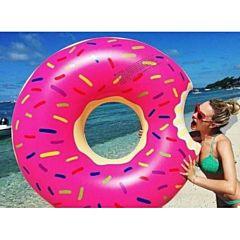 """Круг надувной """"Розовый пончик"""" 110 см, Матрассики"""