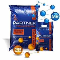 Bor+ с повышеным составом фосфора NPK 20.20.20 +2B+МЕ - комплексное удобрение, PARTNER BOR