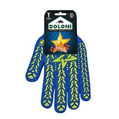 Перчатки с ПВХ Звезда синие желтые, пластизоль, 587, Doloni