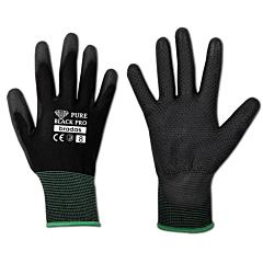 Перчатки защитные PURE BLACK PRO полиуретан, Bradas