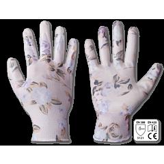 Перчатки защитные NITROX FLOWERS нитрил, Bradas