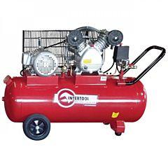 Компрессор 100 л, 4 HP, 3 кВт, 380 В, 8 атм, 500 л/мин, 2 цилиндра PT-0013, INTERTOOL