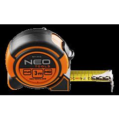 Рулетка, стальная лента с магнитом и блокировкой сматываия, NEO Tool