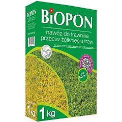 Удобрение в гранулах для газона против пожелтения, BIOPON