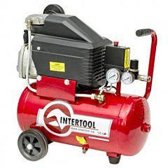 Компрессор 24 л, 2 HP, 1,5 кВт, 220 В, 8 атм, 206 л/мин PT-0010, INTERTOOL