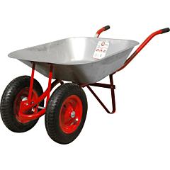 """Тачка садово-строительная, 65 л., 140 кг, 2 пневмоколеса с подшипником 14"""" (3.50-8). WB-0623, INTERTOOL"""