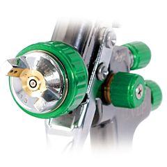 LVLP GREEN NEW Профессиональный краскораспылитель 1,3 мм, верхний пластиковый бачок 600 мл., mах 1,5 PT-0132, INTERTOOL