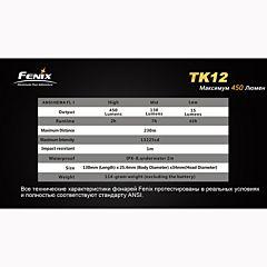 Фонарь Fenix TK12 Cree XP-G2 (R5)