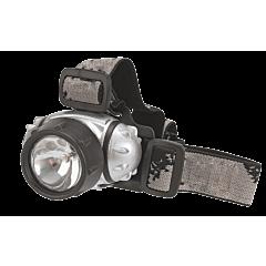 Фонарь налобный 3 LED + 1 криптоновая лампа, TOPEX