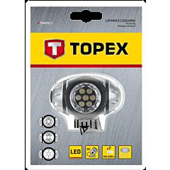 Фонарь налобный 7 LED, TOPEX