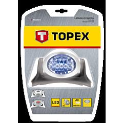 Фонарь налобный 7 LED +3 красные,  TOPEX