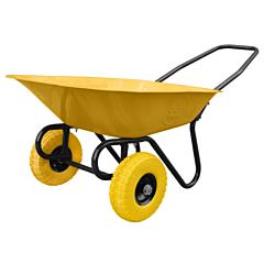 Тачка строительная двухколесная, пенополиуретановые колеса, грузоподъемность 160 кг, объем кузова 75 л, BudmonsteR