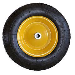 Колесо пневмо литое усиленное 14*4, желтое, Budmonster