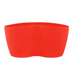 Вазон Кактусник на 2 растения, 18*10,5*9 см, 0,9 л, красный, Алеана