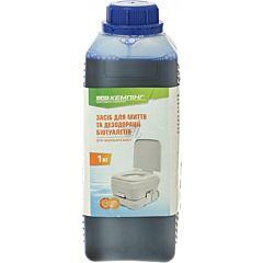 Средство для дезодорации биотуалетов (для нижнего бака) 1 л, Кемпинг