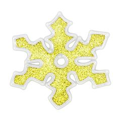 Наклейка новогодняя для окон Снежинки, диам. 10 см в асс-те, цвет золотой, House of Seasons