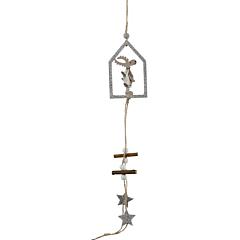 Украшение декоративное деревянное подвесное Олень 43 см, House of Seasons
