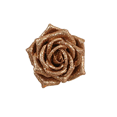 Украшение декоративная клипса, Роза розовая 6*8 см, House of Seasons