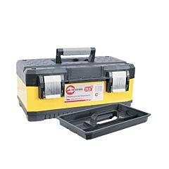 """Ящик для инструментов с металлическими замками, 19,5"""" 498x289x222 мм, BX-2019, INTERTOOL"""