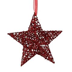 Украшение декоративное Звезда красная 20 см, House of Seasons