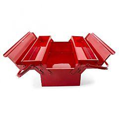 Ящик для инструментов металлический 450 мм, 3 секции, HT-5043, INTERTOOL