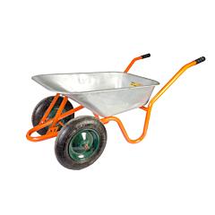 Тачка садово-строительная 85 л/ 160 кг, двухколесная, Mastertool