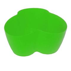 Вазон Кактусник на 3 растения, 17*16,5х9 см, 1,1 л, светло-зеленый, Алеана