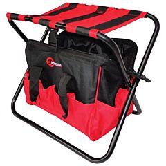 Складной стул с сумкой, универсальный до 90 кг 420 мм x 310 мм x 360 мм, BX-9006, INTERTOOL