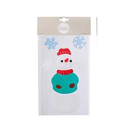 Наклейка новогодняя для окон, 15.5х24 см, в асс, Снеговик, House of Seasons