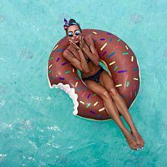 """Круг надувной """"Шоколадный пончик"""" 110 см, Матрассики"""