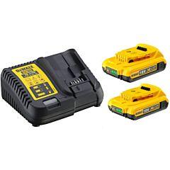 Зарядное устройство и 2 аккумулятора DCB183 2Ач DCB115D2, DEWALT
