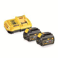 Зарядное устройство + 2 аккумулятора XR FLEXVOLT DCB118T2, DEWALT