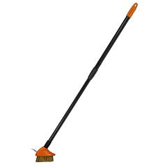Щетка металлическая с телескопическим черенком 80-140 см, Bradas