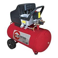 Компрессор 24 л, 2 HP, 1,5 кВт, 220 В, 8 атм, 206 л/мин. PT-0009, INTERTOOL