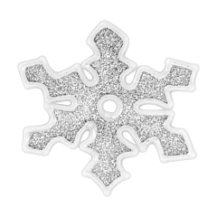 Наклейка новогодняя для окон Снежинки, диам. 10 см в асс-те, цвет серый, House of Seasons